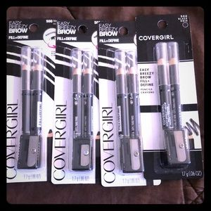 4 Covergirl Brow Pencils - 500 Black